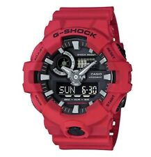 Casio G-Shock GA-700-4A Red Men's Wristwatch with Black Dial