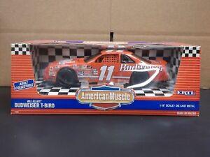 ERTL American Muscle 1/18 Scale NASCAR #11 Bill Elliott Budweiser T-Bird In Red