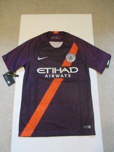 Nike 2018/19 Manchester City Third Jersey Night Purple 919001-538 Men Size S
