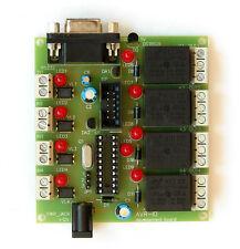 AVR-IO board 4 opto inputs 4 relay outputs temperature sensor DS18B20 Attiny2313
