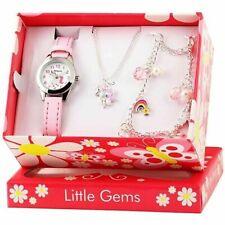 Little Gems Unicorn Charm Set Silver Plated, Girls Gift watch/bracelet/necklace