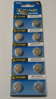 10 Pack AG13 LR44 357 157 303 A76 LR154 L1154 1.5V Alkaline Battery Exp 2021