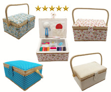More details for thread sewing basket tool household storage box handle 20 sewing tools include