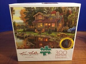 "Buffalo Kim Norlien Peace Like A River Jigsaw Puzzle 300 Pc 21.25"" X 15"""