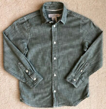 LOGG by H&M 7/8 Boys Long Sleeve Green Dress Shirt 100% Cotton