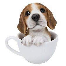 Adorable Teacup Pet Pals Beagle Puppy Collectible Figurine 5.75 Inches