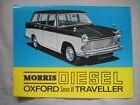 1964 Morris Oxford Traveller Diesel series VI foldout BROCHURE Pub.No. 6406