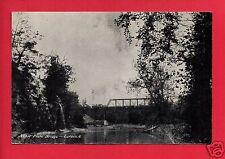 LORAIN OHIO OH NICKEL PLATE BRIDGE RR TRAIN  BRIDGE STEAM ENGINE   POSTCARD