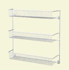 ClosetMaid Steel 18 in. 3-Tier Wall Pantry Storage Shelves Organizer Rack White