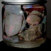 27.7 ct Australian Opal Lightning Ridge / Coober Rough Rarest Red Flash