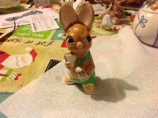 Vintage Pendelfin Bunny Rabbit Muncher Green Shorts