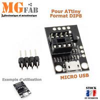 Module adaptateur ATtiny13A/ATtiny25/ATtiny45/ATtiny85 AVR micro USB   Arduino