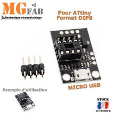 Module adaptateur ATtiny13A/ATtiny25/ATtiny45/ATtiny85 AVR micro USB | Arduino