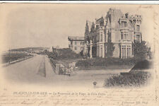 DEAUVILLE 65 la promenade de la plage la villa dolfus timbrée 1902