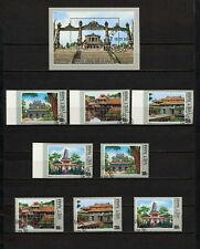 (YYAZ 684) Vietnam 1990 IMPERF + Perf NH Mi 2126 -29 Sc 2063 -66 Architecture