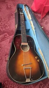 Vintage parlour guitar with dearmond gold foil pickup 1960s