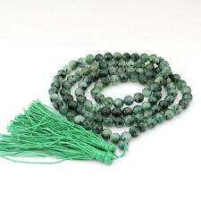 8mm Tibet Buddhist 108 Jade Prayer Beads Mala Necklace