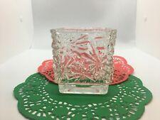 Avon Snowflake Designed Crystal Votive / Tea Light Holder