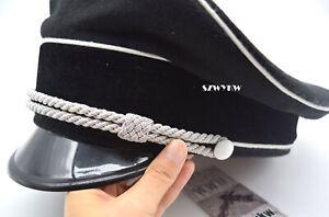 WW2 German Elite Officer's Wool Visor Hat Sweat Ring Made Leather 59cm