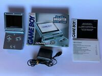 GBA SP Nintendo Game Boy Advance SP AGS 101 Blue pearl CIB  Tasted!