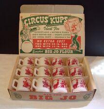 Rare Big Jo Flour Display Box for Hazel Atlas Circus Clown Childs Milk Glass Mug