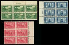 617-19, Mint VF NH Set of Three Plate Blocks CV $427.50 - Stuart Katz