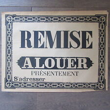 AFFICHE ANCIENNE 1810 REMISE A LOUER MAISON IMMOBILIER IMPRIMERIE