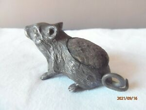 Pewter/Bronze Antique Mouse Pin Cushion
