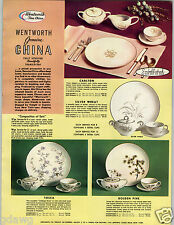 1959 PAPER AD Wentworth Tosca Pine American Commercial China Dinnerware Graceine