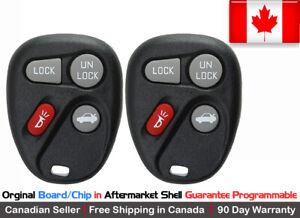 2 OEM Original Keyless Remote Key Fob For Cadillac Chevy Pontiac Saturn L2C0005T