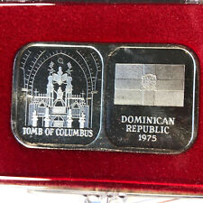 1975 Rosario Resource Dominican Republic 1 oz .999 Silver Bar w/ Case and COA