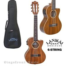 LANIKAI ACACIA SERIES *new model* 6-STRING ACOUSTIC/ELECTRIC UKULELE w/GIG BAG