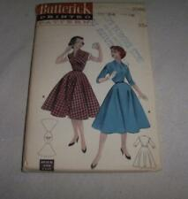 Vintage Womens Sewing Pattern Dress 50's Butterick 7086 Unused