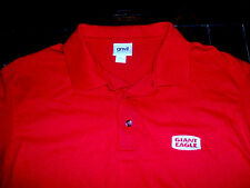 Giant Eagle Grocery Store Employee Cashier Embroidered Red Large Polo Shirt