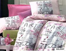 PARIS EIFFEL TOWER HOLIDAY KING QUILT COVER SET NEW