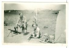British soldiers with Bren gun, possibly North Africa, WW2, Original Photo