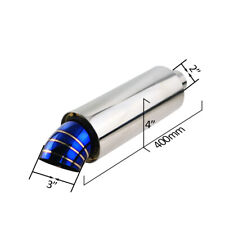Burned Blue Round high flow Racing Exhaust Muffler for 2inch inlet