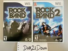 RockBand and RockBand 2 Nintendo Wii w/ Manual and Case Pre-Owned