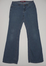 Roxy Junior Womens Size 7 Thin Flare Blue Jeans Good Condition