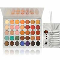Beauty Glazed Eyeshadow Palette and Makeup Brushes Cosmetic Set 35 Colors 7 PCS