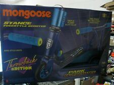 Mongoose Stance Throwback Edition Freestyle Scooter - Blue - New