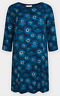 NEW SEASALT Blue Freshwater Printed Shift Dress Was £69.95 Now £32.95