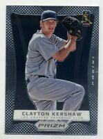 2012 Panini Prizm 29 CLAYTON KERSHAW Los Angeles Dodgers RARE BASE BASEBALL CARD
