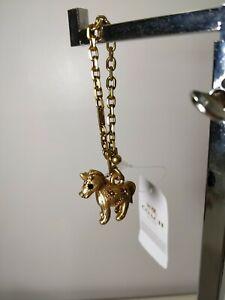 Coach Swarovski Crystal Jeweled Uni Unicorn Bag Charm 39407 Brass NWT