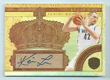 KEVIN LOVE 2010/11 GOLD STANDARD GOLD CROWNS AUTOGRAPH AUTO /49
