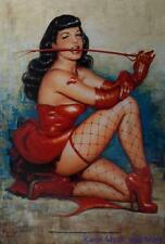 """BETTIE PAGE Flag/ Tapestry/ Fabric Poster  """"Dont Tred On Me""""     NEW"""