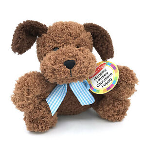 Melissa and Doug Meadow Medley Chocolate Puppy Dog Plush NEW 7in Bark Sound 7401