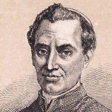 Portrait XIXe Cardinale Giacomo Antonelli Sonnino Pape Papa Pie XI 1860