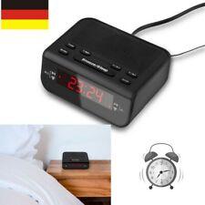 Digitale LED-Anzeige Wecker Radiowecker 2 Weckzeiten Dual Alarm Sleeptimer DE