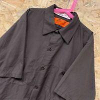 Vintage RED KAP Workwear Work Short Sleeve Shirt Brown USA Medium M